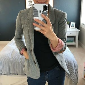 H&M Gray Sweater Blazer